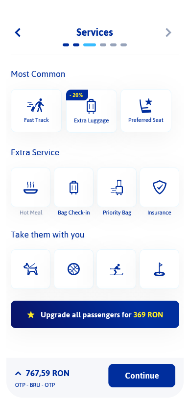 Services Screen